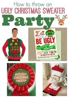 How to Throw an Ugly Christmas Sweater Party   Party planning, Christmas Party