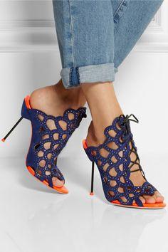 Sophia Webster | Greta crystal-embellished cutout suede sandals | NET-A-PORTER.COM