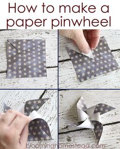 How to make a paper pinwheel by Blooming Homestead