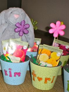 No-candy Easter baskets from Sugar Tot