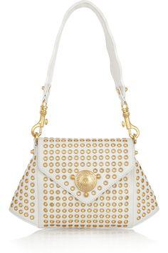 versace white & gold purse