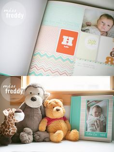 Guide to doing a digital project life baby book. LOVE her books and her style!