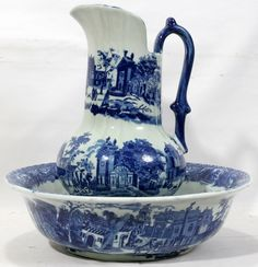 VICTORIA WARE IRONSTONE WATER PITCHER & BASIN