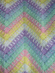 free afghan crochet patterns   CROCHET BABY RIPPLE AFGHAN   Crochet For Beginners