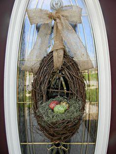 Spring Wreath Easter Wreath Grapevine Door