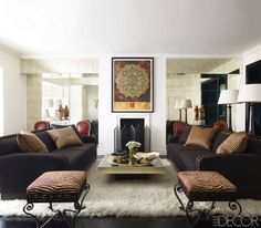 Just the right amount of drama in this specially curated living room.