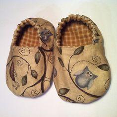 Zapatos de bebé de tela reversibles