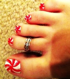 Check out LoveItSoMuch.com to discover unique products like Toe Candy Christmas Nail Art for Girls - Red Lolipop Christmas Nail Art.