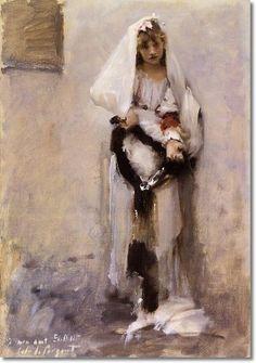 John Singer Sargent - A Parisian Beggar Girl