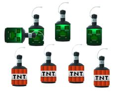Minecraft Creeper + TNT Popper Labels - Digital Download - Minecraft Party on Etsy, $4.75