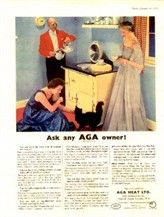 An AGA advertisement from the 1940s