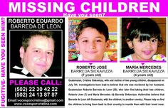 "MURDERED WIFE!  TOOK KIDS!  Miami, Florida   WANTED ROBERTO EDUARDO BARREDA DE LEON, ALLEGED MURDERER OF HIS WIFE CRISTINA SIEKAVIZZA MOLINA.  MEASURED  5´11""  BROWN EYES AND HAIR.  Is 36 YEARS OLD  Is a fugitive from JUSTICE IN GUATEMALA, wanted by Interpol WORLDWIDE.  GONE FROM AUGUST 4, 2011 Took with him his children ROBERTO JOSE and MARIA MERCEDES 7 and 4 yeaes.  REWARD $6,000 USD can make an anonymous call to GUATEMALA PHONES:  (502) 2230 4222 or (502) 5304 1613"