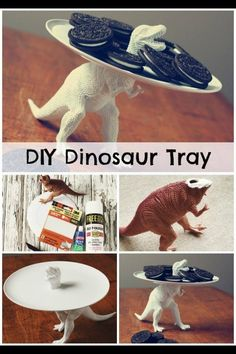 Dinosaur party plate