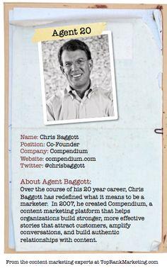 Bio for Secret Agent #20 @chrisbaggott  to see his content marketing secret visit tprk.us/cmsecrets