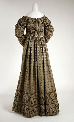 1819-22 Silk Dress, back view