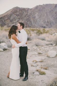 desert wedding portraits, photo by Dave Richards http://ruffledblog.com/elegant-palm-springs-wedding #desert #weddings