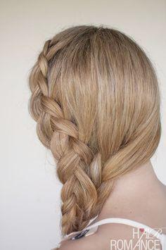 Hair Romance - a Dutch mermaid side braid
