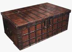antique trunk coffee table - Google Search