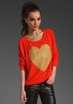 WILDFOX COUTURE EXCLUSIVE Gold Sparkle Heart in Free Love at Revolve Clothing - Free Shipping! - StyleSays