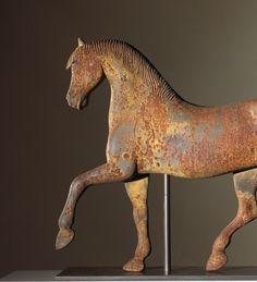 Circa: c. 1880 Cast Iron Horse Weathervane Att. to the Gilmanton Iron Works, New Hampshire