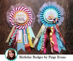 Birthday Badges!
