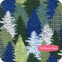 Winter Menagerie Blue Trees Yardage SKU# 5WM-2 - Fat Quarter Shop