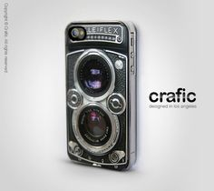 Vintage Camera Silver Lens iphone Case - Fits iPhone 4 & 4S.  via Etsy.