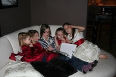 My girls on Christmas Eve, reading a story before bed....