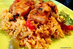 Arroz con Pollo (Chicken with Rice) - Hispanic Kitchen    My mother made this several times when we lived in Venezuela.