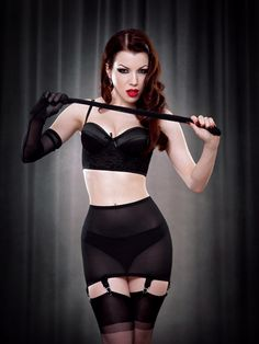Vargas Roll On Girdle in Black - Kiss Me Deadly