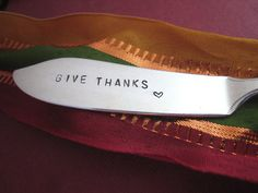 Thanksgiving Hostess Gift Give Thanks Hand by SilverSpoonful