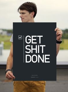 Get Shit DONE - Poster Startup Vitamins by Startup Vitamins on The Bazaar