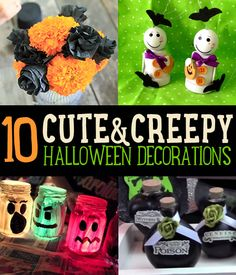 10 Cute and Creepy Halloween Decorations | We'll surely try these on Halloween. #DiyReady www.diyready.com