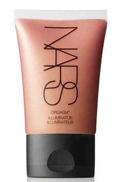 nars illuminator in orgasm!  After u place your powder this creates the perfect cheek with a dewy radiance. A little goes a long way!