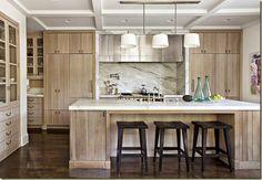 light wood bar kitchen