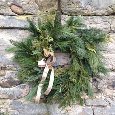 evergreen wreath wit