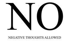 thought allow, negat thought