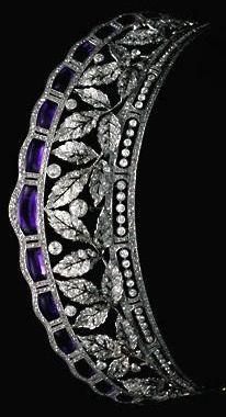 Antique Tiara of the Fouche D'Otrante family (amethysts, diamonds). #AmethystTiara