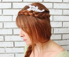 Gina Michele: diy anthropologie lace comb