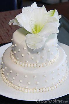 Small Pretty Wedding Cake-