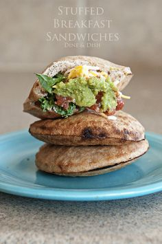 Healthy Stuffed Breakfast Sandwiches