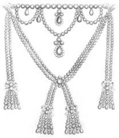 Diamond_Necklace_Marie_Antoinette.  This is the infamous necklace that bankrupted the royal jeweler and even though she did not order it and indeed turned it down when it was offered, because of it's great cost and it's assumed ownership by the Queen, it's existence put Marie Antoinette closer to her death.