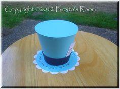 NEW Alice In Wonderland Top Hat Centerpiece  by PepitosRoom, $7.50