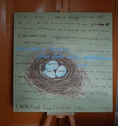 art project, school auction, famili, art lesson, art idea, class project, auction idea, bird nests, auction projects