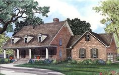 I love me some Cape Cod styles :) Elevation of Cape Cod   House Plan 62045