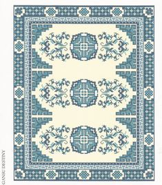 CHART ONLY for Dollhouse Carpet One Inch by WhimsyWooMiniatures, £7.50
