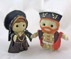 The Tudor Project - Felt Tudor dolls