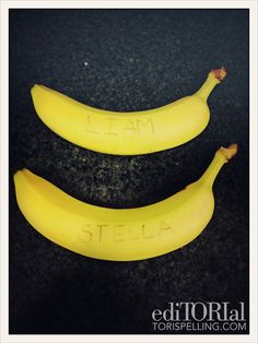 Secret Banana-Grams for your little one's lunch!
