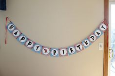 Dr Seuss Happy Birthday Party Banner.