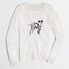 intarsia dalmation sweater